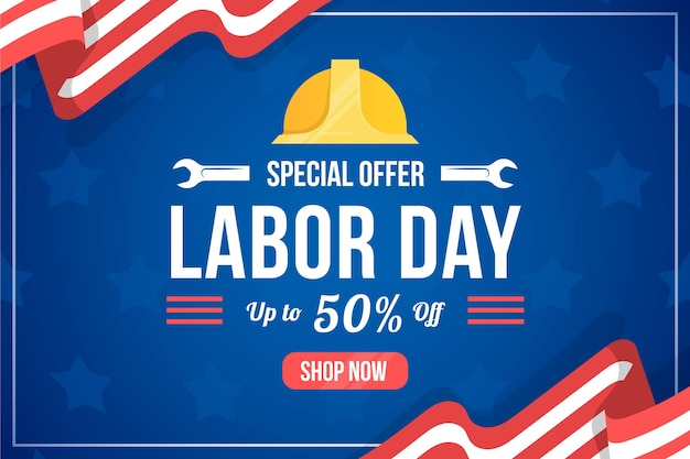 Labor day horizontal sale banner