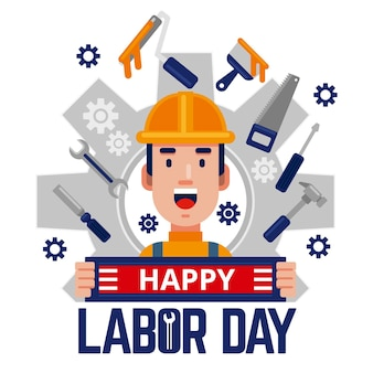 Labor day illustration design