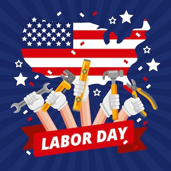 Labor day illustration theme