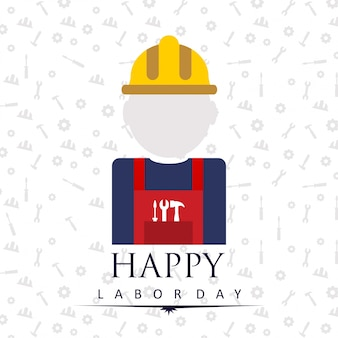 Labor day illustration with worker