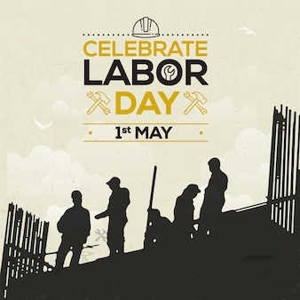 Labor day or international day celebrate