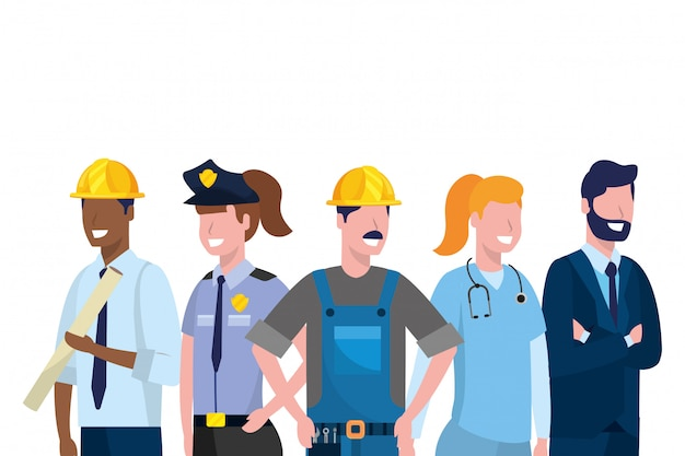 Labor day job cartoon