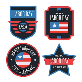 Labor day label collection