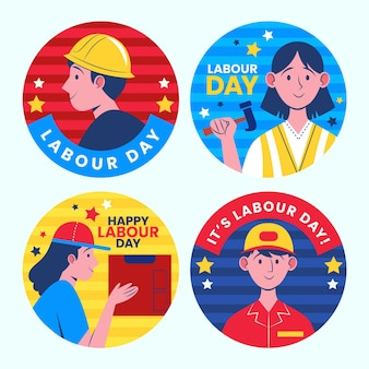 Labor day labels collection