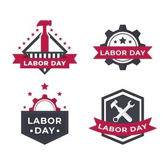 労働日のラベルセット