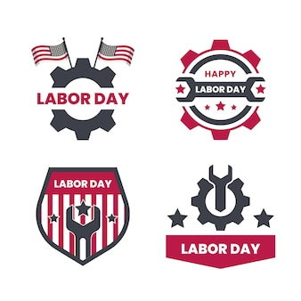 Labor day labels