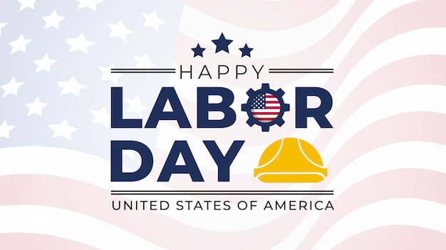 Labor day lettering usa