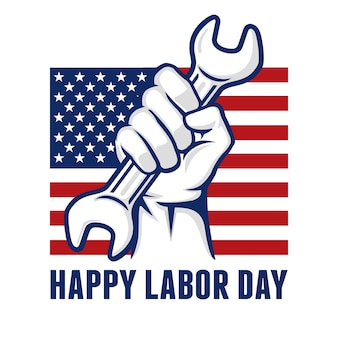 Labor day logo background banner vector