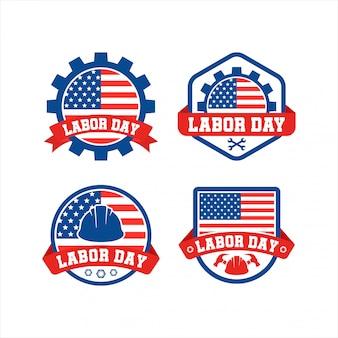 アメリカの労働者の日バッジロゴコレクション