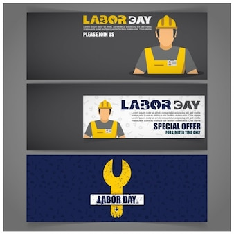 Labor day offer banners