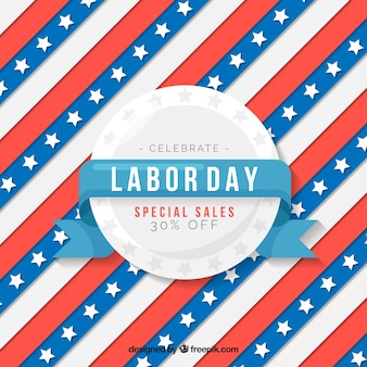 Labor day sale background with paper texture
