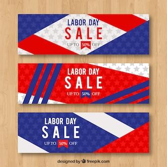 Коллекция баннеров для продажи в день в плоском стиле