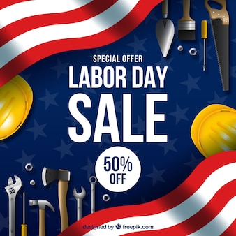 Labor day sale composition with realistic style