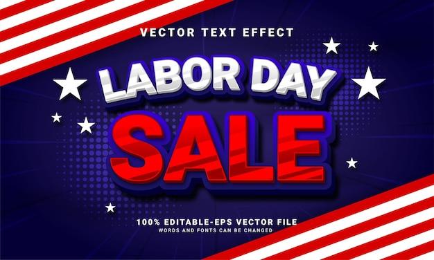労働者の日のお祝いでの販売促進に適した労働者の日の販売編集可能なテキストスタイルの効果