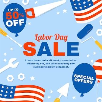 Illustrazione di vendita della festa del lavoro