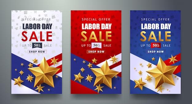 День труда продажи продвижение рекламы баннер шаблон.