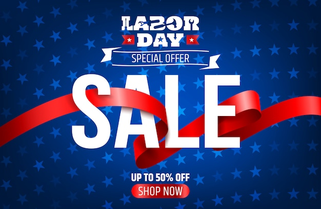 Labor day sale promotion advertising banner