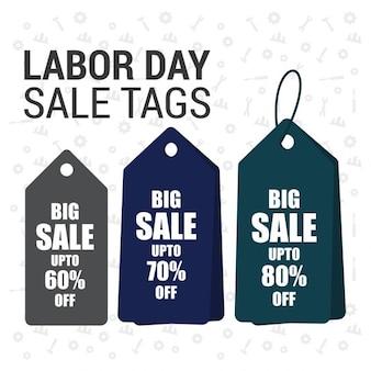 Labor day sale tag