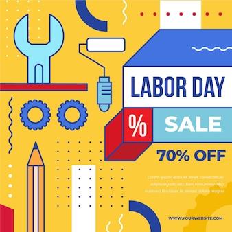 Labor day sale usa concept
