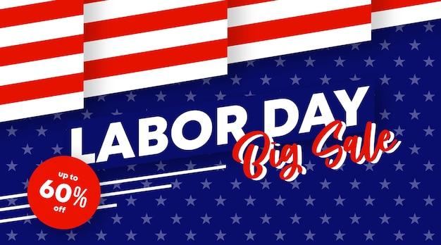 労働者の日セールのwebバナーとチラシの背景イラストベクトル