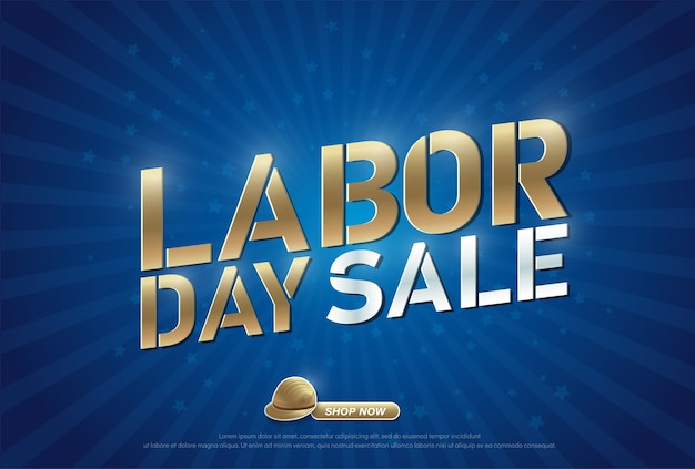 Labor day sale with helmet promotion advertising banner