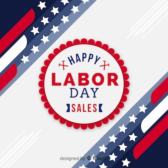 Labor day sales background flat design