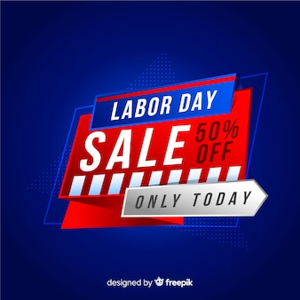 Labor day sales background in realistic style