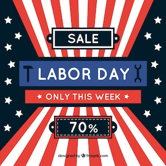 Labor day sales composition with flat design