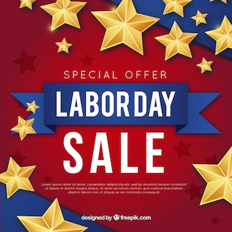 Labor day sales composition with vintage style