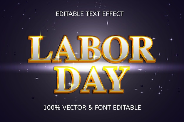 Labor day style luxury editable text effect