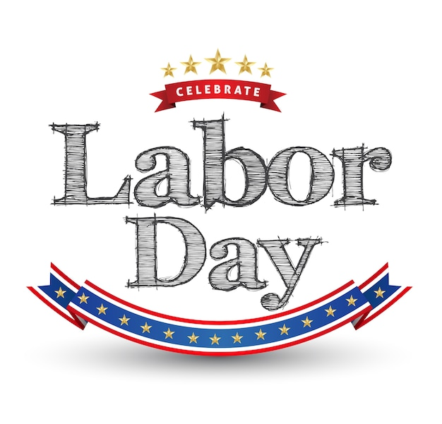 Labor day text signs