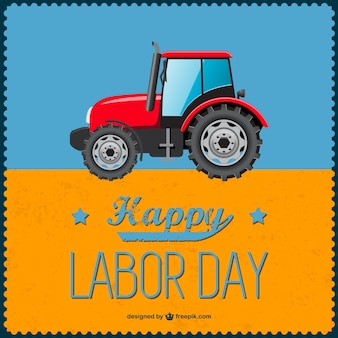 Labor day tractor background