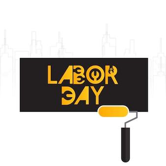 노동절 인쇄상의 카드 크리 에이 티브 디자인 벡터