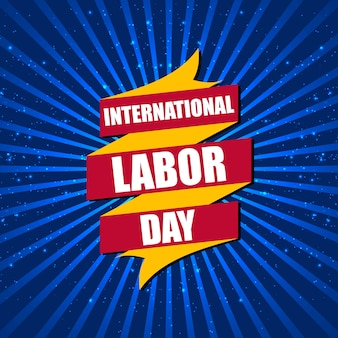 Labor day typographic design vector