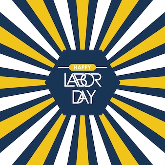 Labor day typographic design