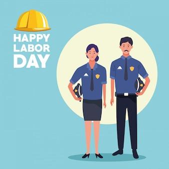 Labor day usa celebration card