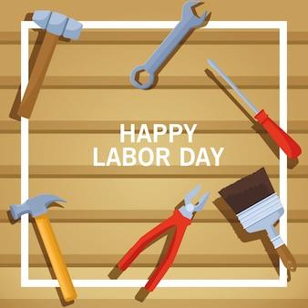Labor day usa celebration cartoon