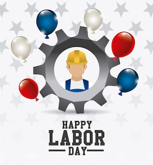 Labor day usa design.