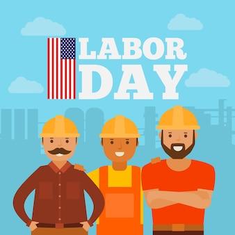 Labor day (usa) in flat design