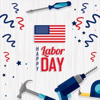 Labor day usa frame