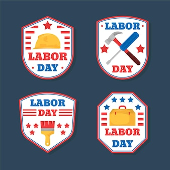 Labor day usa label collection