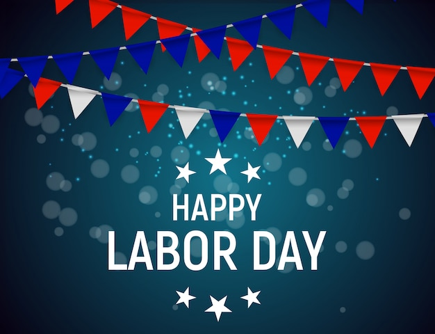 Labor day in usa poster