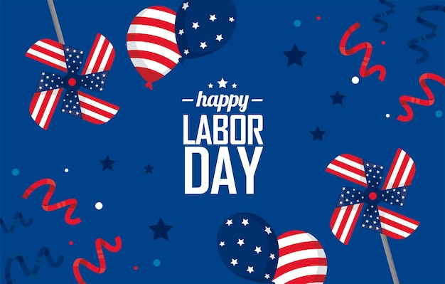 Labor day usa poster