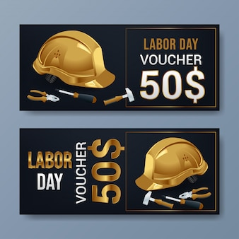 Labor day voucher template