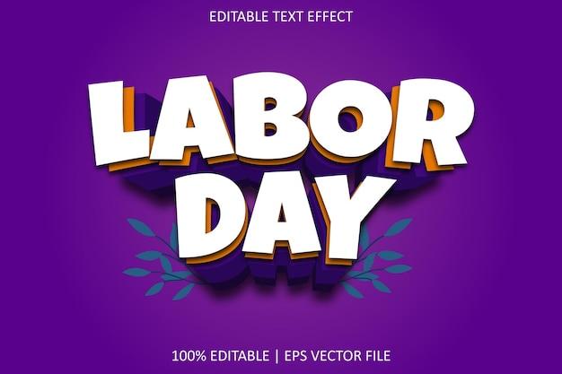 Labor day with cartoon style editable text