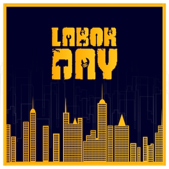 Labor day with creative typography