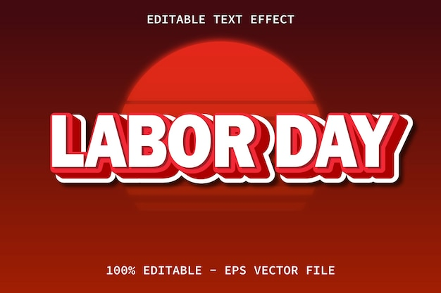 Labor day with modern style editable text effect
