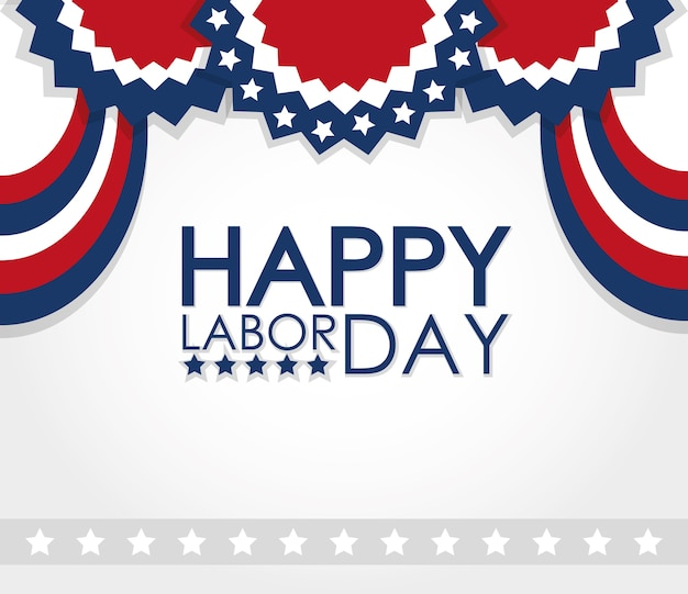 Labor day with ribbon awards usa style