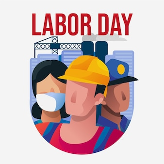 Labor day with workers