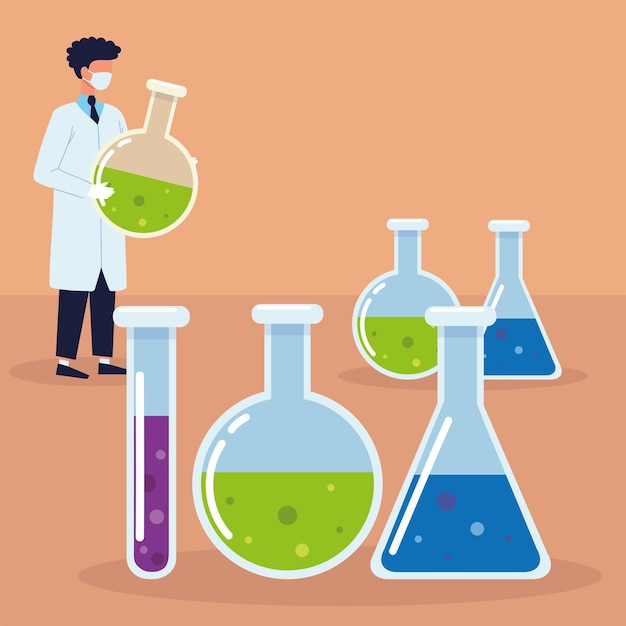 Laboratory beakers and doctor